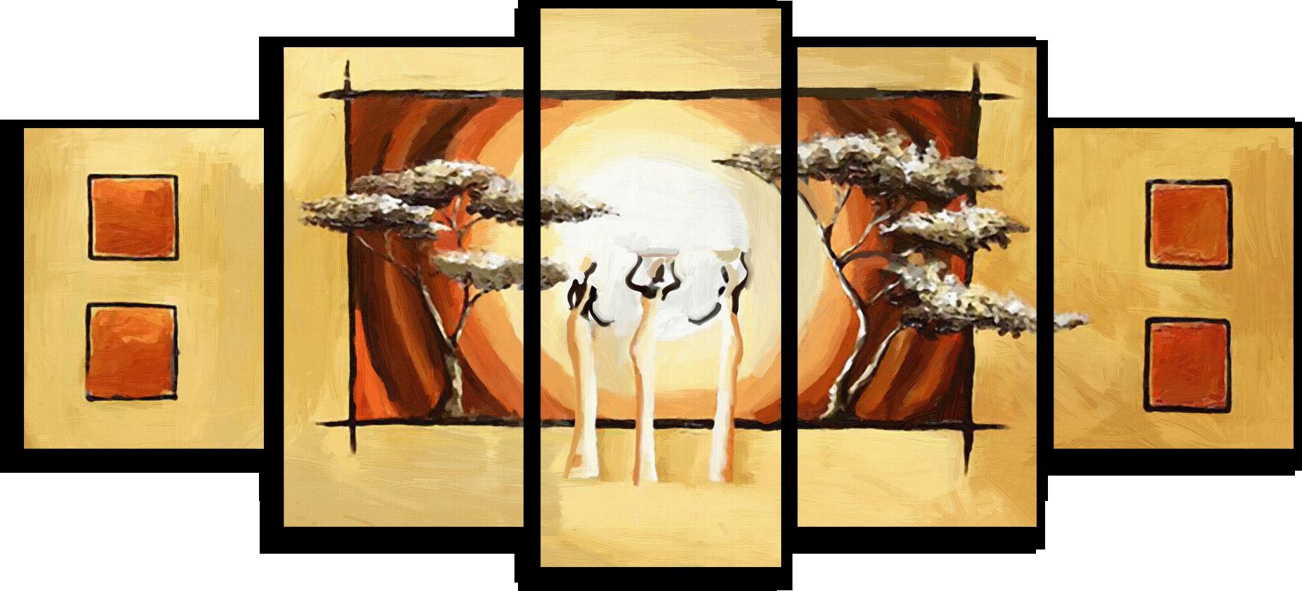 "Абстракция Модульная картина ""Африканская абстракция"" М406.png"