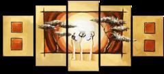 """Модульная картина """"Африканская абстракция"""""""