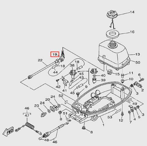 Кран топливный для лодочного мотора T5 Sea-PRO (7-19)