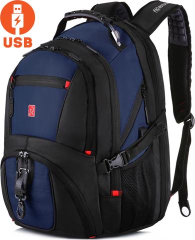 Рюкзак ROTEKORS 8112 USB Синий