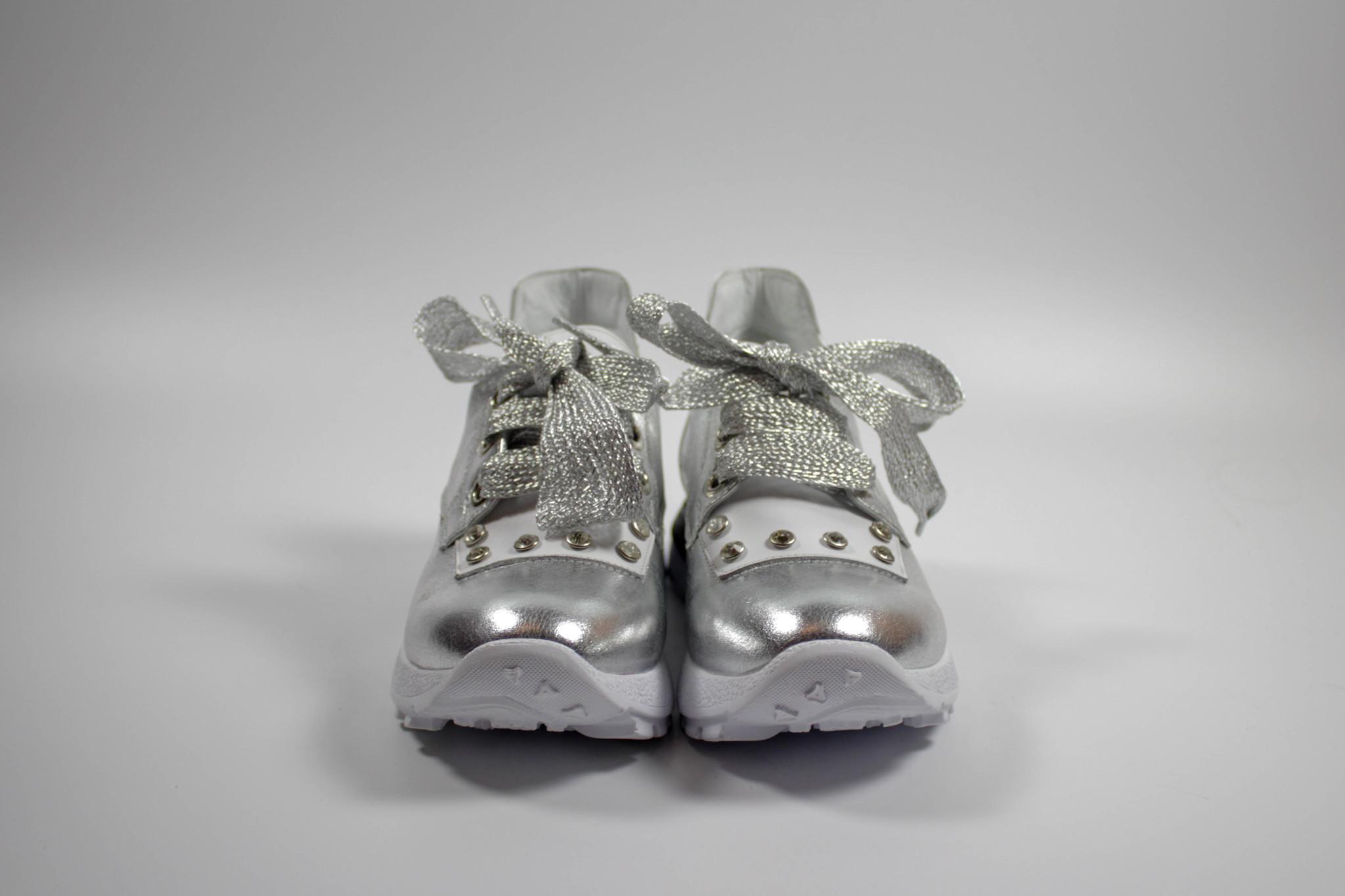 серебристые кроссовки Donna Ricco