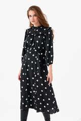 Платье с рюшами на груди