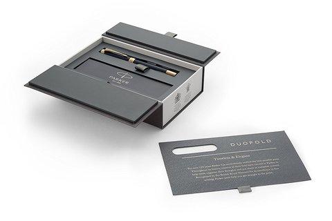 Ручка-роллер Parker Duofold Prestige Centennial, Blue Chevron GT123