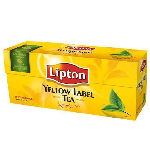 Липтон черный чай в пакетиках МИНИМАРКЕТ 50