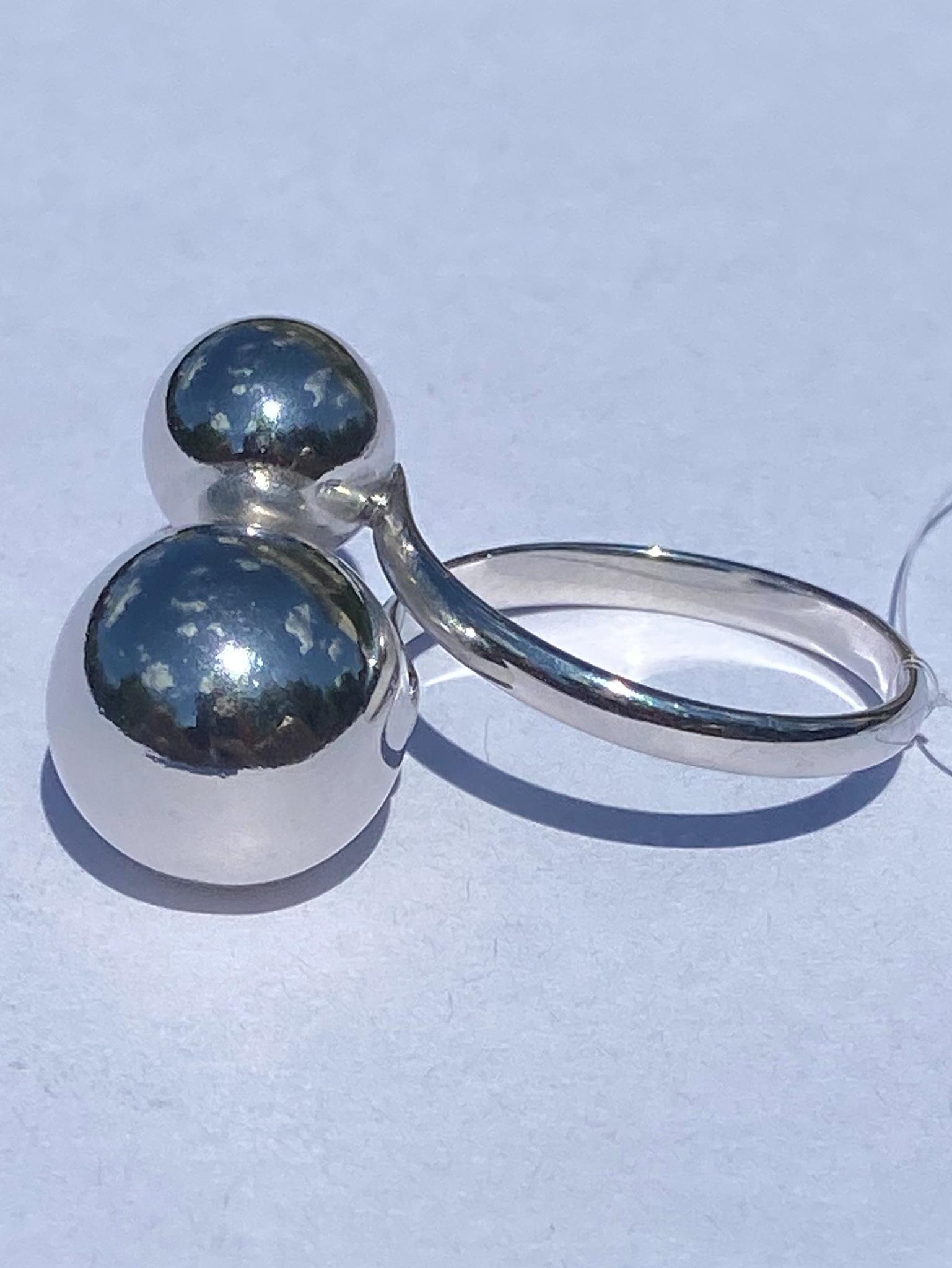 Шары 0,9+1,2 (кольцо из серебра)