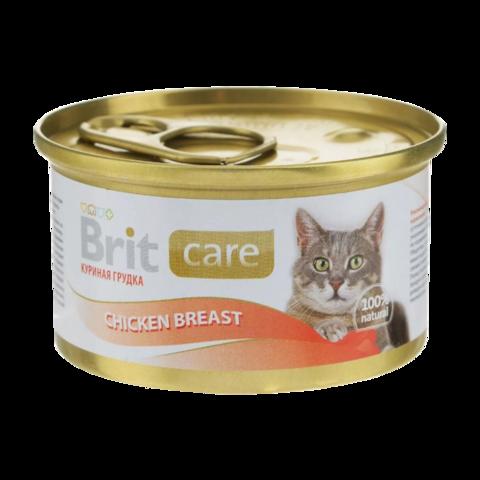 Brit Care Cat Консервы для кошек с куриной грудкой (Банка)