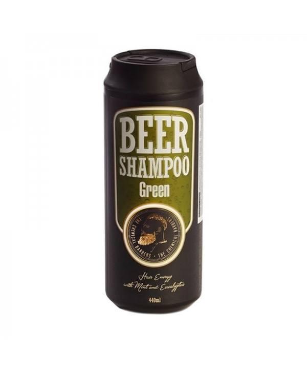 Шампунь CHEMICAL BARBERS Beer Shampoo Green с мятой и эвкалиптом 440 мл