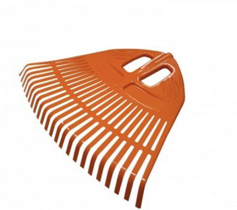 Грабли веерные пластм. 23 зуба Гардения оранж. 500мм