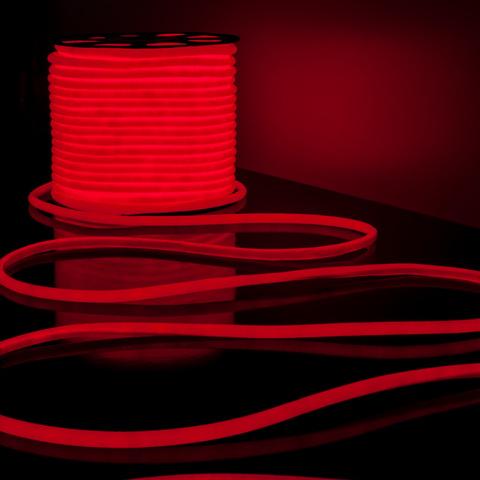 Светодиодный гибкий неон LS003 220V 9.6W 144Led 2835 IP67 круглый красный