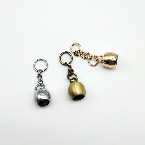 колокольчик- подвеска для кисточки на цепочке,1.3*1.5 см