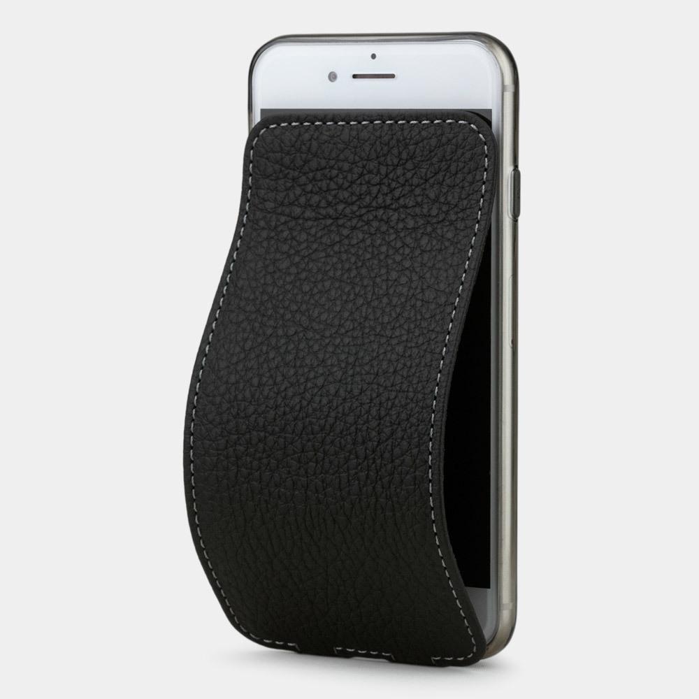 Чехол для iPhone SE/8 из натуральной кожи теленка, цвета черный мат