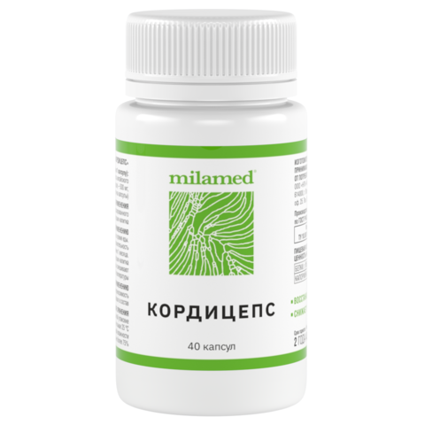 Кордицепс Milamed, 40 капсул