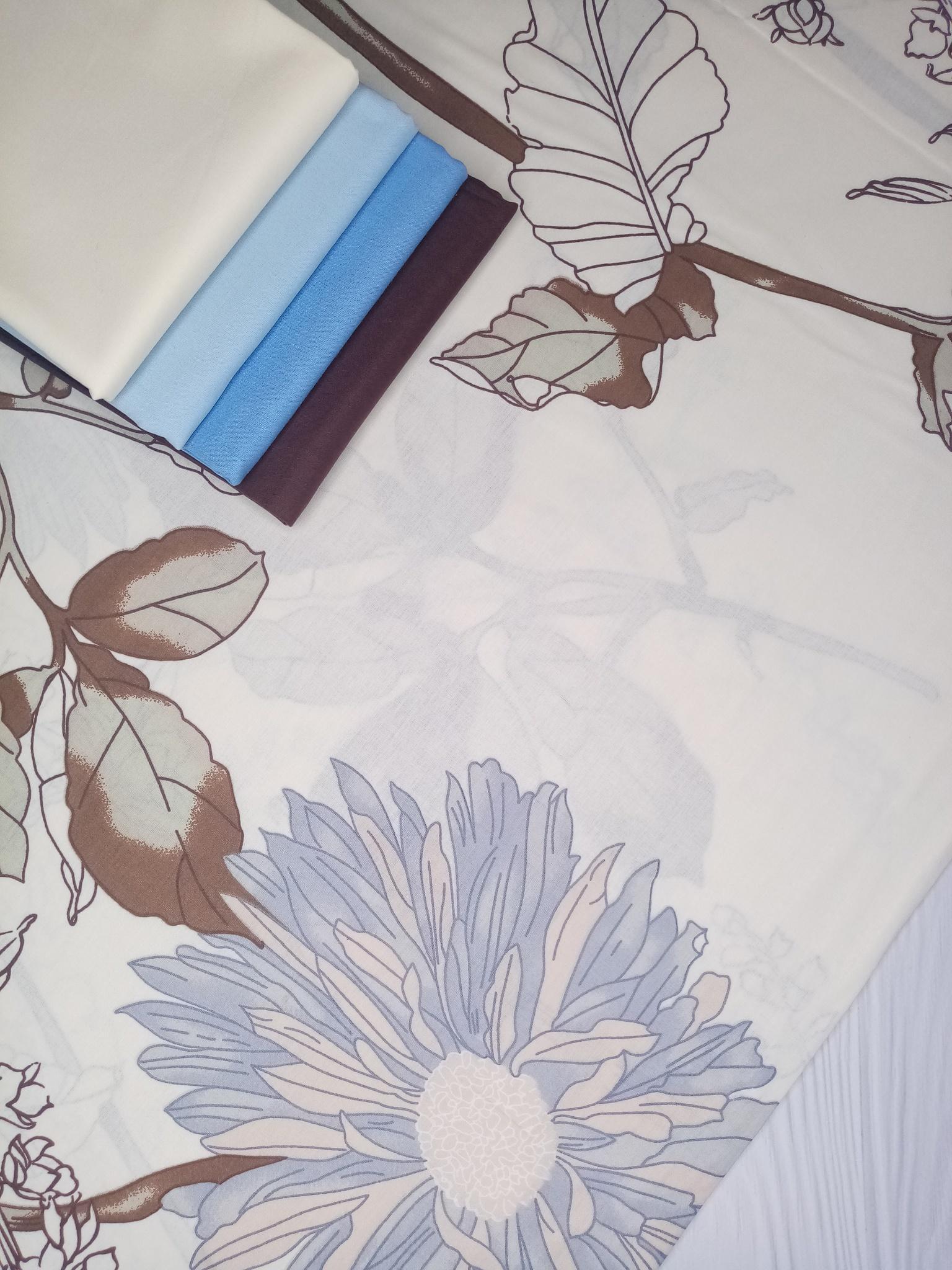 Премиум ранфорс Цветущий цикорий