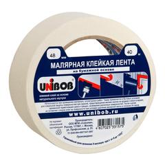 Клейкая лента малярная 48мм х 40м UNIBOB белая