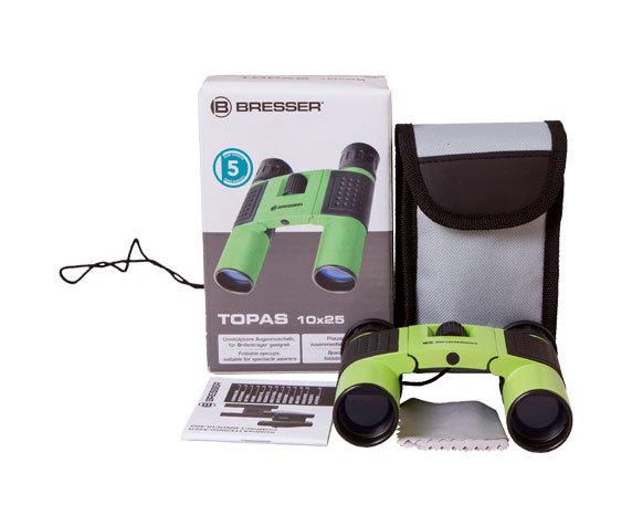 Комплект поставки бинокля Topas 10x 25 Green