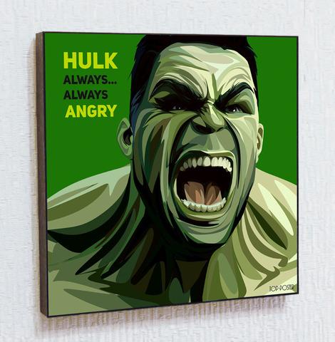 Картина постер Халк в стиле ПОП-АРТ