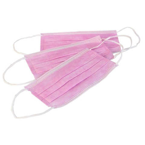 Маска медицинская розовая 3-х слойная (1 упак. 50 шт.)