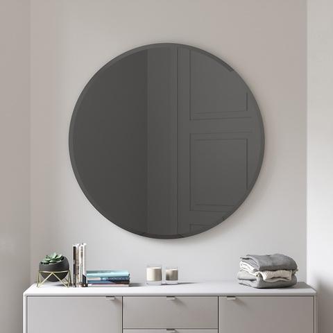 Зеркало настенное Hub D91 см дымчатое