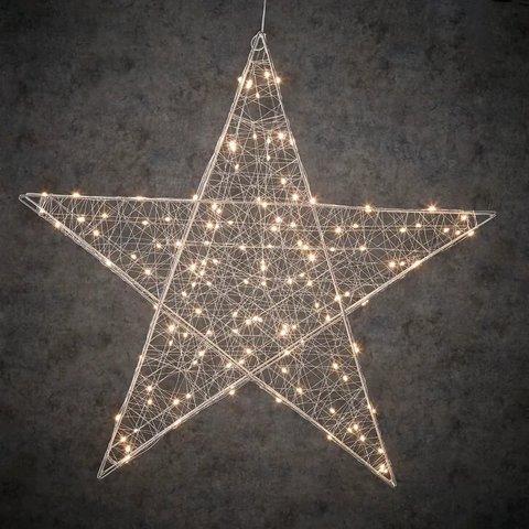 Подвесная объемная звезда с лампами белый свет, для наружного и внутреннего использования