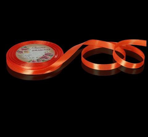 Лента атласная, цвет оранжевый, 6мм*23±1м