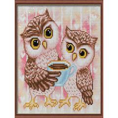 Aлмазная мозаика Милые совы