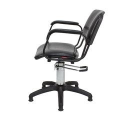 Парикмахерское кресло Контакт цвет черный матовый гидравлика хром, пятилучье хром на подпятниках