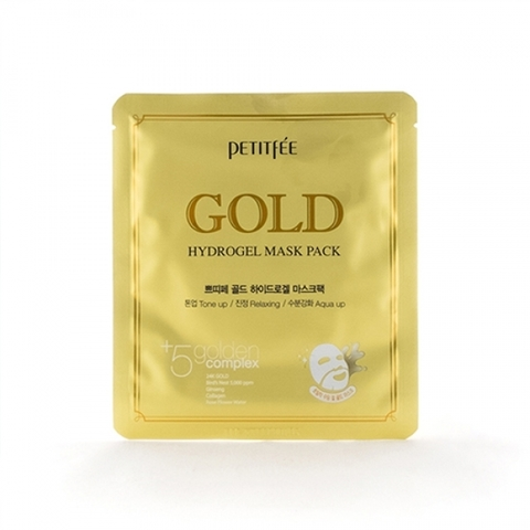 Petitfee Гидрогелевая маска с золотом Gold Hydrogel Mask Pack, 1 шт