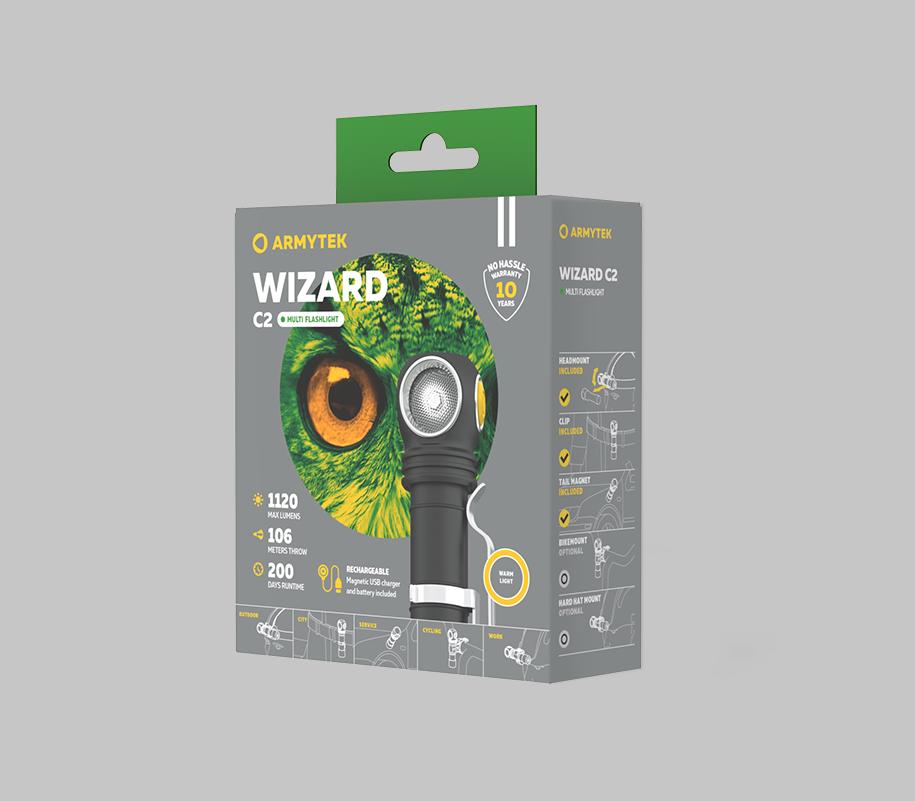 Фонарь Armytek Wizard C2 Magnet USB (теплый свет) - фото 7