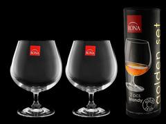 Набор бокалов для коньяка и бренди «Golden Set», в тубусе, фото 3