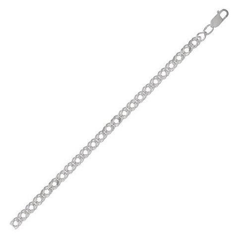 Серебряная цепь с алмазной гранью