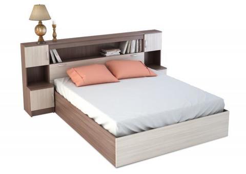 спальня БАСЯ кровать с прикроватным блоком (2352х1016х2232)