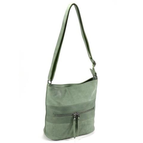 Зеленая сумка с декоративным тиснением
