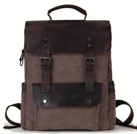 Рюкзак из ткани и кожи BUG 067 Coffee