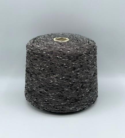 Бобинная пряжа  (пр.Италия),2100 м / 100 гр.Полиамид, цвет-Черный+белый , арт.9706