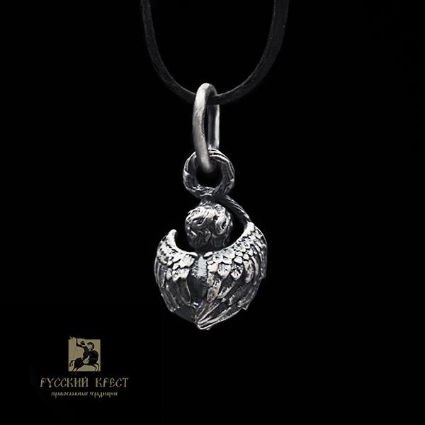 Кулон из серебра Ангел.