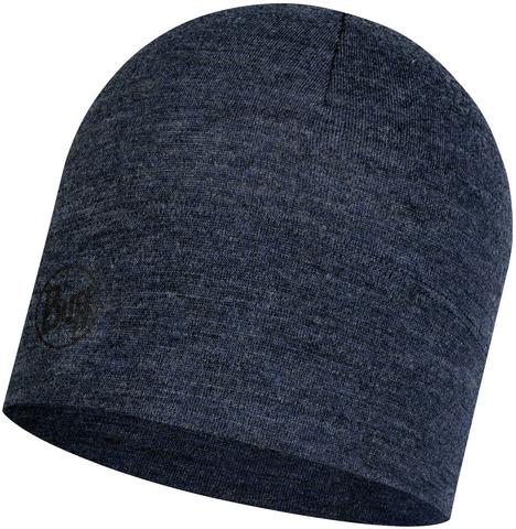 Шерстяная шапка Buff Hat Wool Midweight Night Blue Melange фото 1
