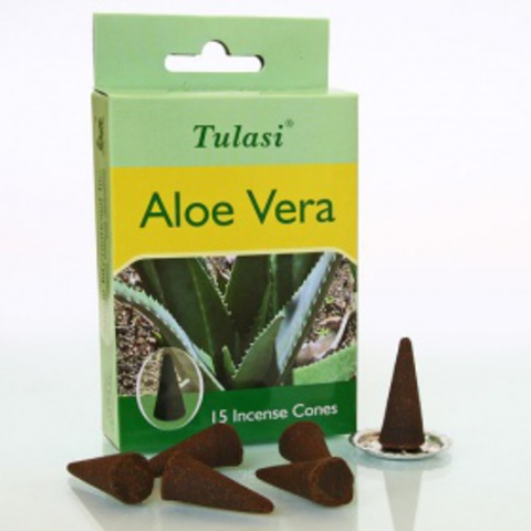 Благовония Sarathi Cones Aloe Vera Алоэ Вера