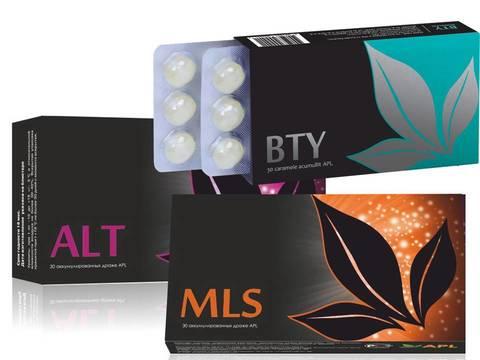 APL. Стартовый набор аккумулированных драже APLGO MLS + ALT+ BTY для красоты кожи, избавления  от паразитов и аллергии