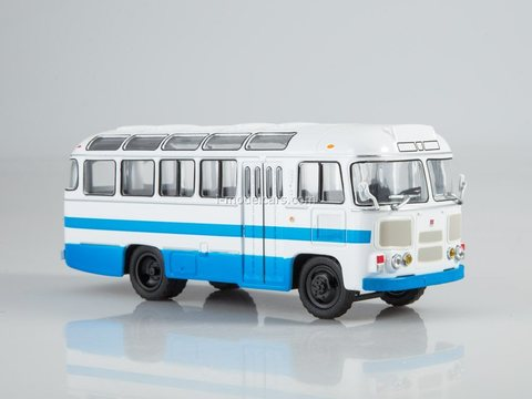 PAZ-672M white-blue 1:43 Modimio Our Buses #7