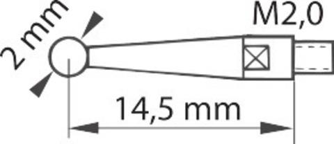 Рычажный индикатор, длина щупа 14,5 мм 0,4/40 мм