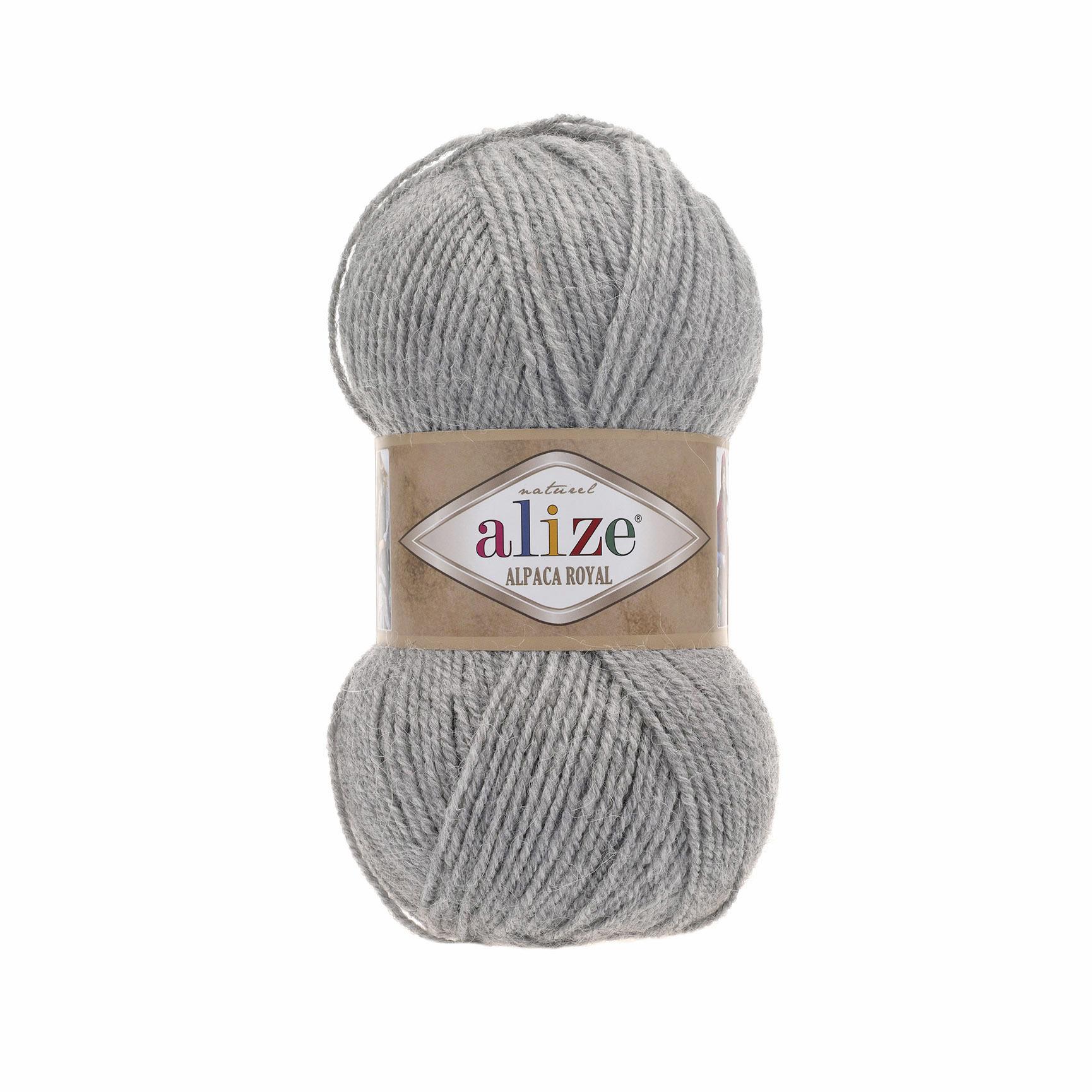 Пряжа Alize Alpaca Royal серый 21