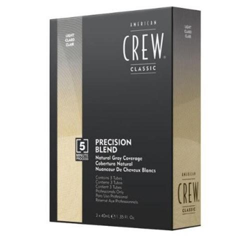 American Crew Precision Blend: Камуфляж для седых волос - светлый тон 7-8 (Natural Gray Coverage Gray Light), 3*40мл