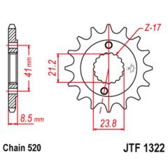 Звезда передняя (ведущая) JTF 1322.13 CRM250