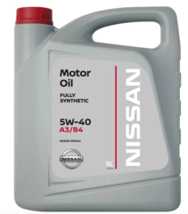 Синтетическое моторное масло Nissan 5W-40 FS A3/B4, 5 л