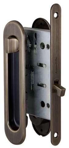 Ручка с заверткой для раздвижных дверей SH011-BK AB-7