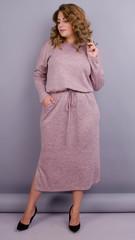 Леся. Оригінальна сукня для жінок size plus. Пудра.
