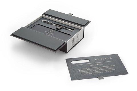 Ручка-роллер Parker Duofold Prestige Centennial, Black Chevron CT123