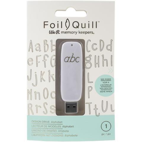 Флешка с набором картинок -We R Memory Keepers Foil Quill USB Artwork Drive - Alphabet
