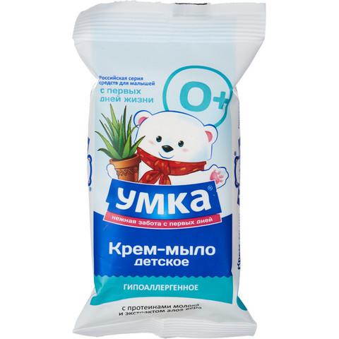Крем-мыло детское Умка С протеинами молока и алое вера 80 г