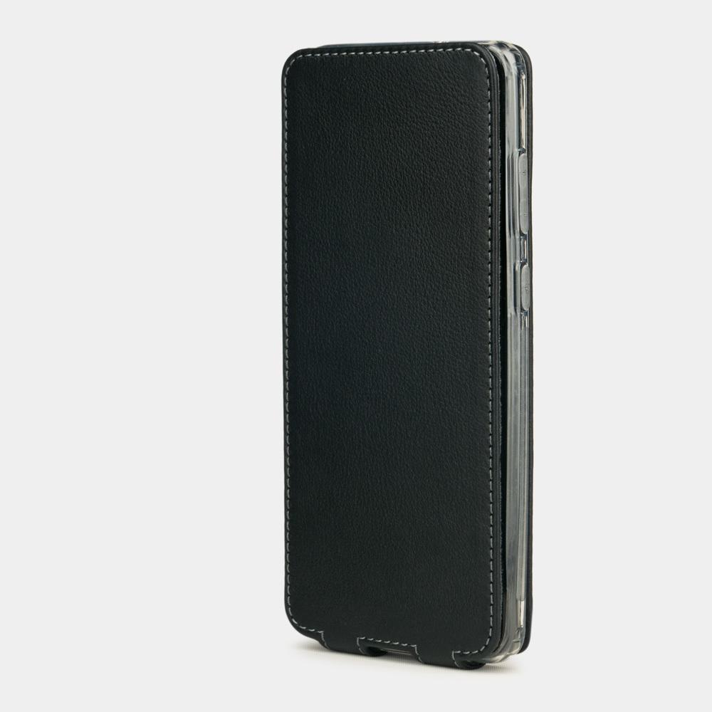 Чехол для Samsung Galaxy S20 из натуральной кожи теленка, черного цвета